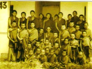 Sermey Tsangpa Khangtsen's First batch of Monks