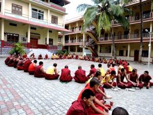 Sera Mey Tsangpa Khangtsen Monks having Lunch