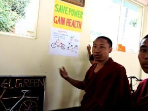 Sera Mey Tsangpa Khangtsen Monk in Science class